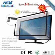 27 дюймов мульти ИК сенсорный экран панель 10 точек касания рамка инфракрасного сенсорного экрана накладка с высоким разрешением