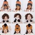 2016 tinycottons bufanda sombrero de Otoño Invierno Niños Bebe Marca de Moda Bebé bufanda hecha punto sombrero Manos Niños Niñas Otoño de Punto pañuelo de cuello