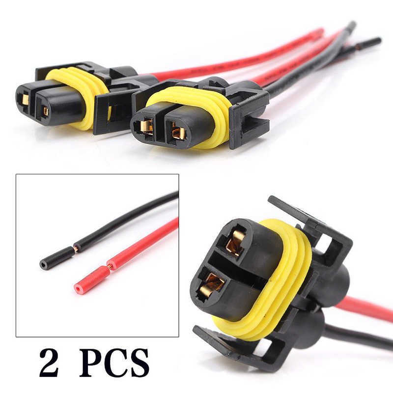 1 Pair H11 H8 Socket Conversion Wiring Harness Adapter For Headlight Fog Lamp