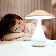 Анион очистки воздуха Гриб декоративные светодиодные Настольные лампы для детей Взрослых анти-излучения Диммер рядом с USB Ночника таблица
