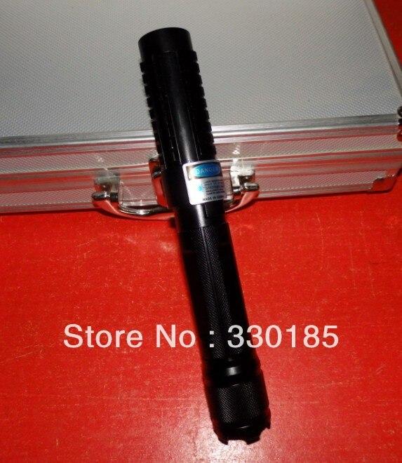 Haute puissance pointeurs laser Bleu 200000 m 20 Watt 450nm Brûler L'allumette/bois sec/bougie/noir/ brûler cigarettes + 5 caps + Lunettes + boîte-Cadeau