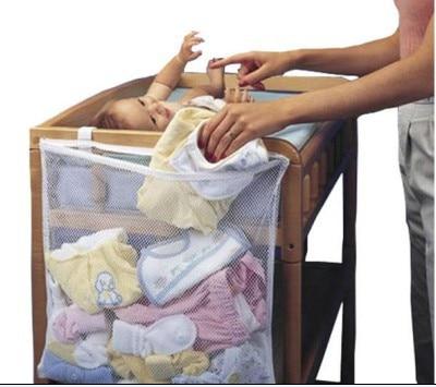 50 * 60cm Large Baby Bed Storage Hanging Storage Organizer Easily Fix On Baby Cribs Bed Crib Organizer Crib Storage