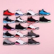 Keychain New Exotic Mini Jordan 3 Retro Shoe Key Chain Men and Women Kids Gift Keyring Basketball Sneaker Holder Porte Clef