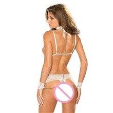 Wonderful Hot Sexy Lingerie Women Babydoll Sleepwear Black Lace SM Bra+ G string Jan 18