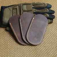 Funda de cuero genuino juego de cuchillos de cuero plegable Scabbard EDC herramientas adecuadas para doblar la longitud del cuchillo 10- 13 cm