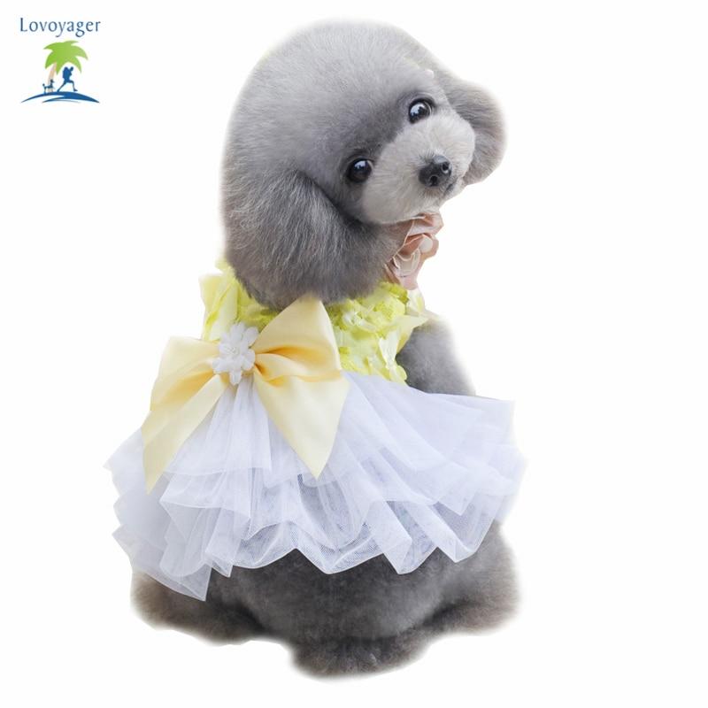 2017 módní psí šaty Tutu Butterfly Pet štěně sukně letní svatební strana princezna šaty luk krajky sladké sukně oblečení