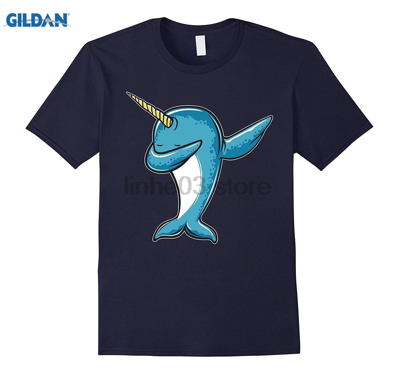 GILDAN Funny Narwhal Dab Shirt - Dabbing Narwhal Shirt glasses Womens T-shirt