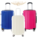 1 Piece 20 24 28 Upright Waterproof Hardside ABS PC Travel Luggage Suitcase Universal Spinner 8 Wheels 3 Colors New Fohcier 2016