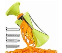 Fruta Espiral Shred vegetal Process Device Cortador Cortadora Peeler Herramienta de la Cocina spiralizer julienne cortador Slicer spirelli