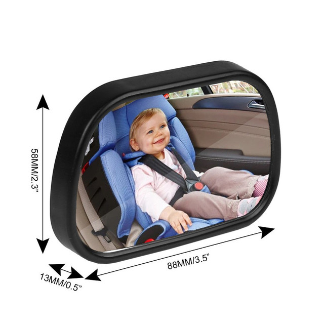 2 in 1 Mini Safety Car Back Seat Baby View Mirror Adjustable Baby Rear Convex Mirror Car Baby Kids Monitor  2