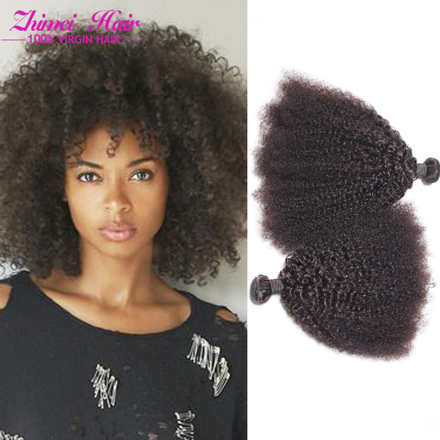 7a Afro Kinky Curly Hair Brazilian Kinky Curly Virgin Hair