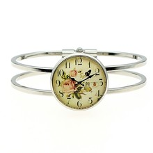 Vintage Clock Photo 25mm Glass Cabochon Bangle For Women High Quality Jewelry Dropshipping 2019 Fashion