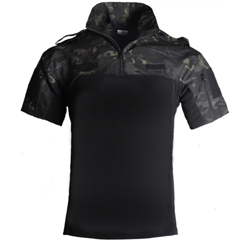 Tactical Military Uniform Camouflage Combat-Proven Shirts Rapid Assault Short Sleeve Polo Battle Strike Airsoft Paintball Shirt