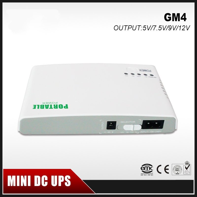Mini Portable UPS 5V/9V/12V DC Output Online Power Supply With Lithium Battery Max 6hours Backup Time for CCTV & Modem Equipment