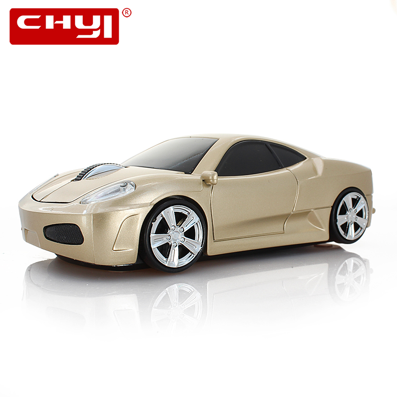 CHYI Cool 3D Oro Auto Mouse Senza Fili USB Laptop Computer PC Mouse 1600 DPI Mouse Gioco Ottico Con La Luce del LED Mause Per Il Capretto regalo