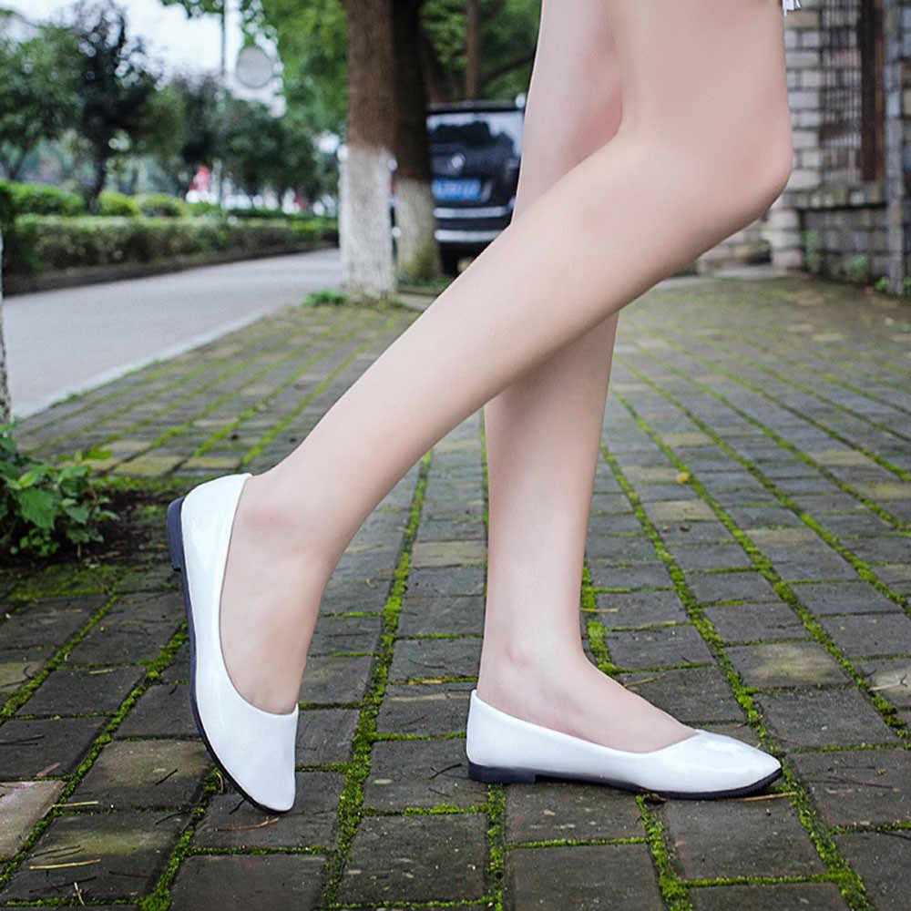 Schoenen vrouw 2019 Mode Dame Platte Wees Teen Lederen Misstap Casual Loafers Platte Schoenen Wandelen Strand Zomer Schoenen Femme dames
