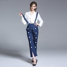 Женщины жан лето 2017 весна женский бренд брюки для женщин кнопку тенденция личность сплит вилка съемные джинсы женский OS-97001