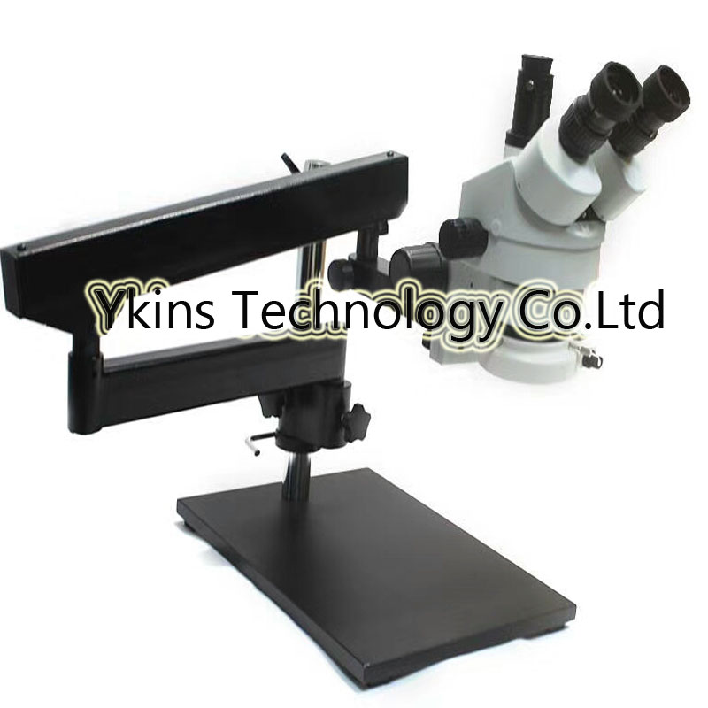 3.5X-90X Trinocular Articulating Arm Pillar Clamp Big Base Zoom Stereo Microscope+0.5X/2.0X Auxiliary Objective Lens+144 LED lucky zoom brand 3 5x 90x soldering microscope stereo zoom trinocular microscope repair articulating arm 0 5x 2 0x objective len
