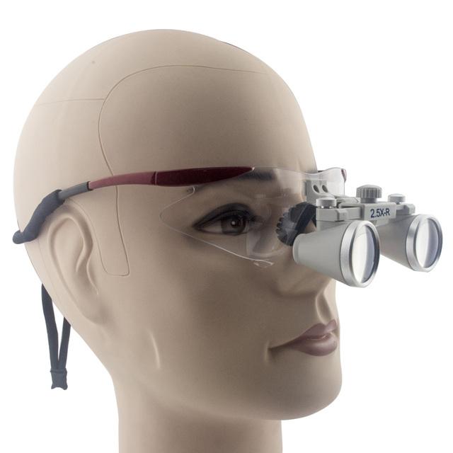 2.5 20xmagnifier Ultra-Light Óculos Óptica Compostos Binocular Dental lupas Cirúrgicas com Dual Shot 360-460mm de Trabalho distância