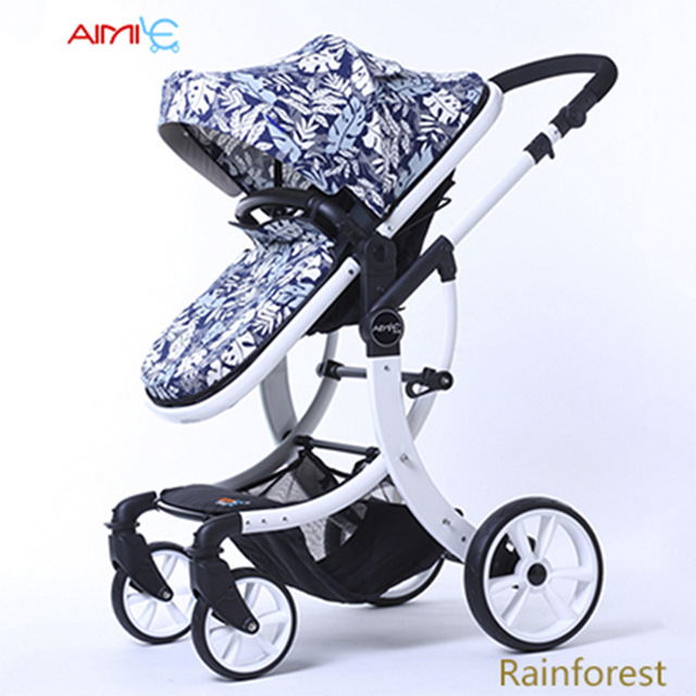 Plusieurs 2-en-1 bébé poussette lumière pliante parapluie voiture peut Cit peut mentir Ultra-léger Portable poussette pour bébé Absorption des chocs