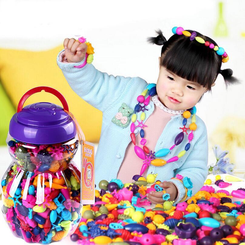 150-500pcs Vroče DIY zapestnice trak trakovi Raznolikost kroglic - Igra igranja vlog - Fotografija 2