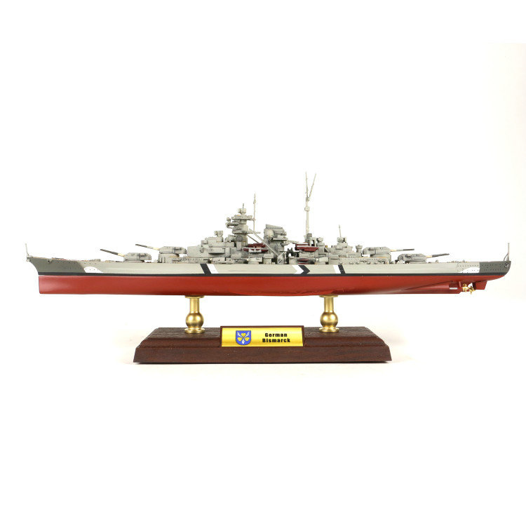 NEW 1/700 50*18*17CM KMS Bismarck battleship, static finished alloy battleship model, collectibles