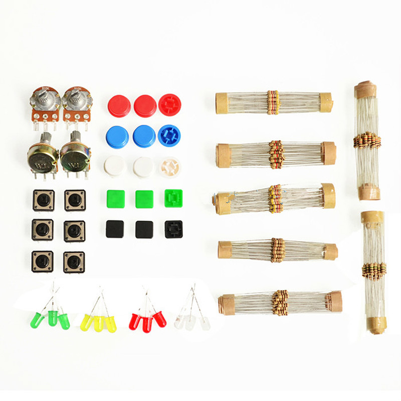 Gentle 1set Universal Parts Kit Component Kit Kit With Resistor Led Potentiometer #hbm0387 Diversified Latest Designs Integrated Circuits Electronic Components & Supplies