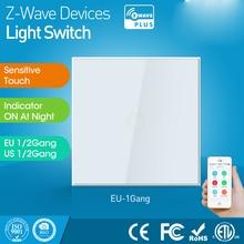 Euバージョン1ギャングz 波壁ライトスイッチセンサーのz波動作モードタッチセンシティブ