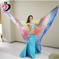 2016 New Belly Dance Wings Size For Kids Adults Dance Costume Isis Colorful Multicolor Wings Oriental