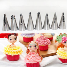 hot deal buy 7pcs/lot new icing piping nozzle cake decorating pastry tips korean style tools set baking tools diy cake cream tools lb 372