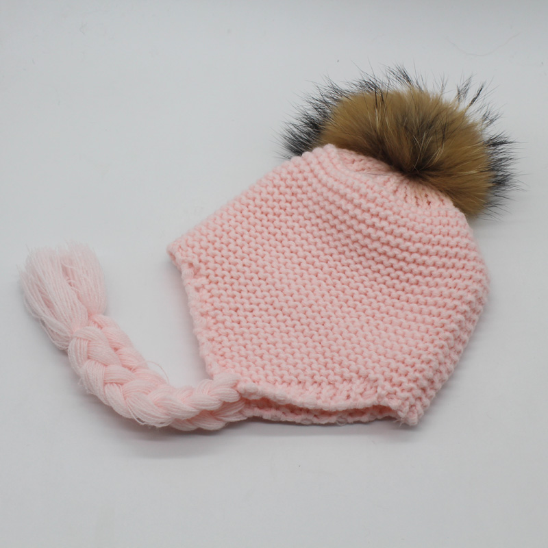 FURANDOWN 2018 Mode Winter Pompon Hoeden For Kids Meisjes Gebreide - Kledingaccessoires - Foto 3