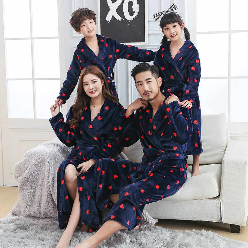 293e681184 ... Family Look Mother Daughter Bathrobe Kids Matching Clothes Father Son  Robes Mom Mommy and Me Outfits ...