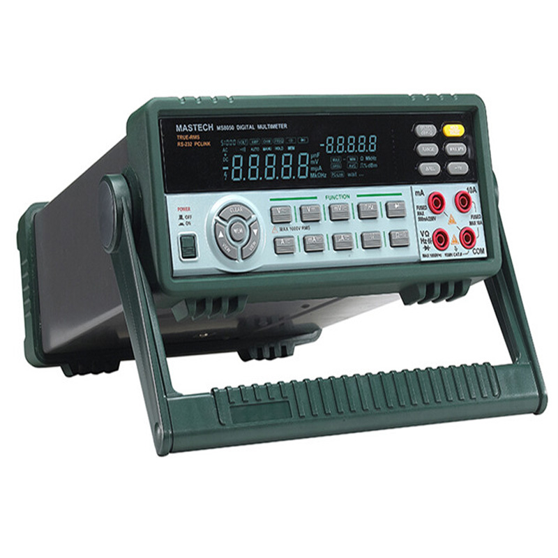 High accuracy  Desktop Digital Multimeter 53K Counts  Bench/True RMS RS232C free shipping Dual display hp 37k scope multimeter with high accuracy