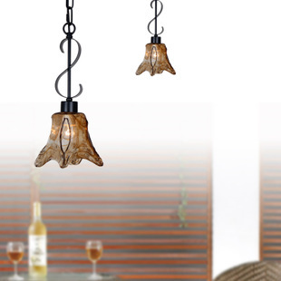 loft vintage glass pendant light wrought iron antique dining-room droplight  lighting