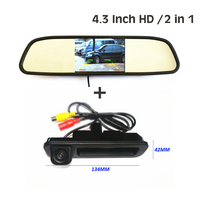 For Ford Focus 2 Focus 3 Sedan Hatchback CCD HD Car rear view parking backup camera + 4.3 car rearview mirror monitor TFT LCD
