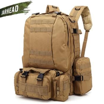 55L Molle Large Tactical Assault Camouflage Backpack Outdoor Military Rucksacks Camping Hiking Bag Travel Hunting Knapsack