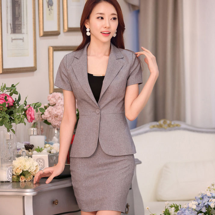Summer style office uniform designs women work wear new for Office uniform design 2015