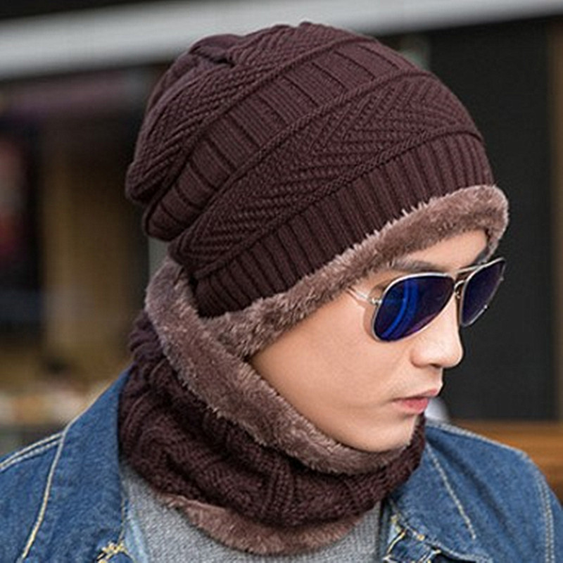 XdanqinX Winter New Knitted Hat Warm Thick Beanies Hat Men 39 s Plus Velvet Masked Cap Fashion Sports Cap Ski Earmuffs Hats For Men in Men 39 s Skullies amp Beanies from Apparel Accessories