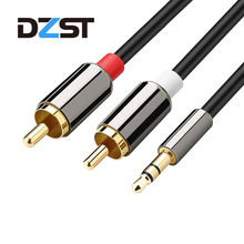 RCA Cable Jack 3.5 mm to 2 RCA Audio Cable AUX Splitter 3.5mm Stereo Male to Male 2 RCA Adapter Speaker Cable 0.5m 1m 2m 3m(China)