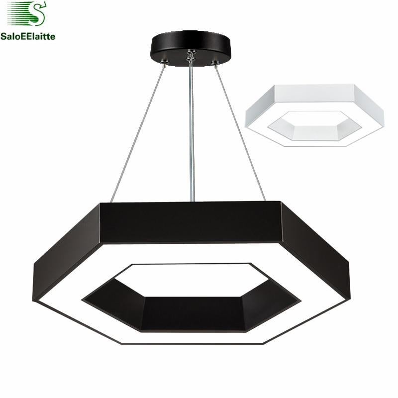 Modern Copper Ring Led Pendant Lighting 10758 Shipping: Modern Office Hexagon Led Pendant Light Minimalism Metal
