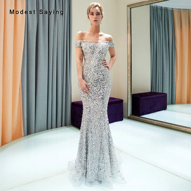 Luxury Illusion Dream Silver Evening Dress 2019 Off ...