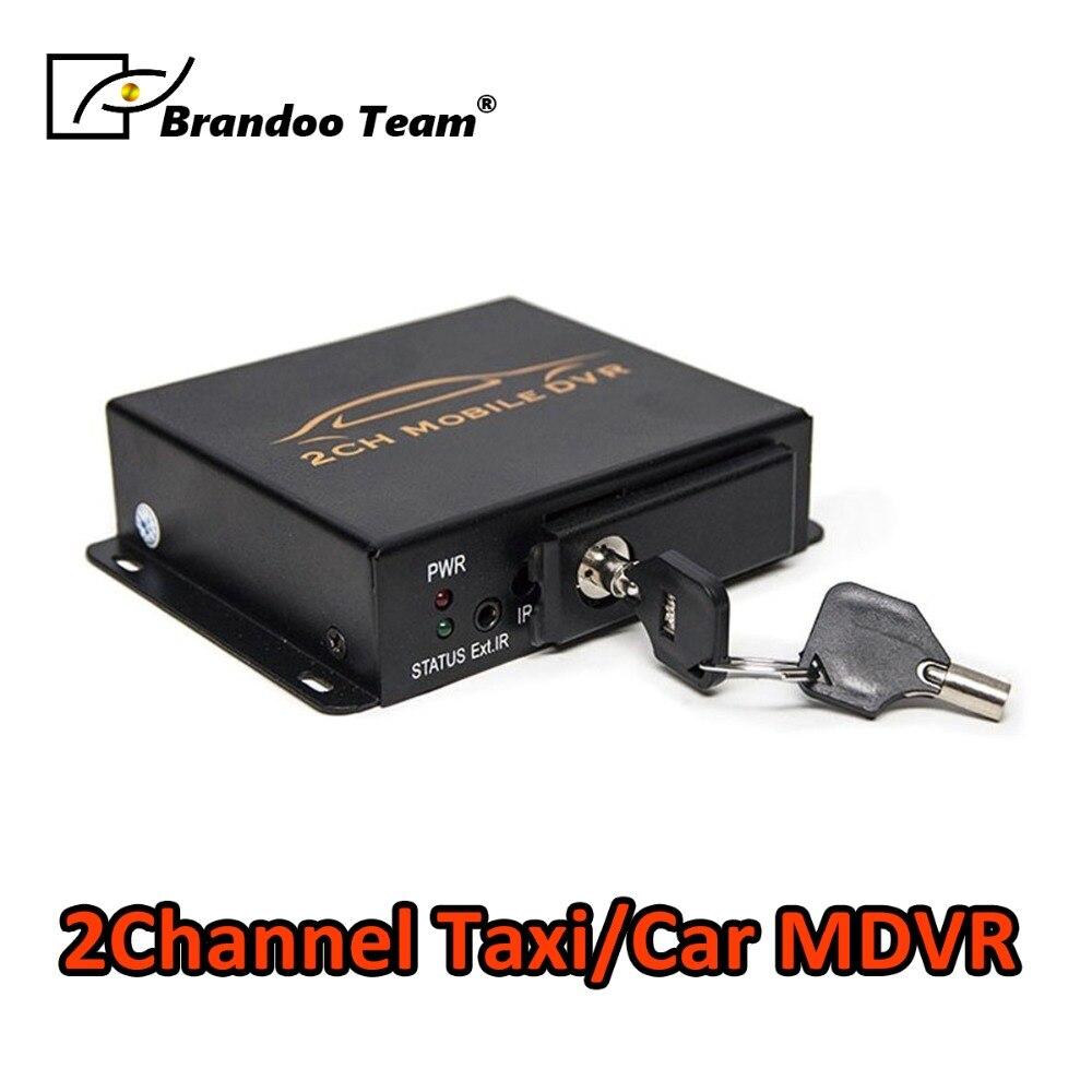 Venda quente! 2 canal mini apoio CARTÃO SD de 128 GB para o táxi e ônibus MDVR usado BD-302B