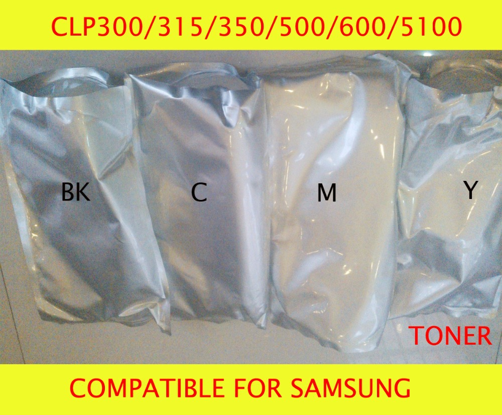 Fast Delivery Compatible for samsung CLP300/315/350/500/600/5100 Chemical Color Toner Powder Free Shipping