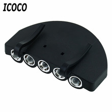 ICOCO Professional 5 LED Head Light Fishing Camping Head Lamp Cap