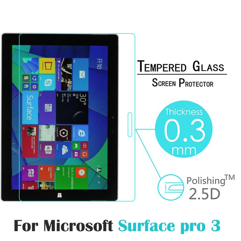 bilder für Gehärtetem Glas Für Microsoft Surface Pro 3 12,0 zoll Tablet HD Displayschutzfolie Anti Shatter Schutzglas Film
