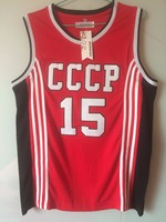 2018 New Mens Cheap Throwback Basketball Jerseys 15 Arvydas Sabonis CCCP Team Russia Jerseys Red Retro