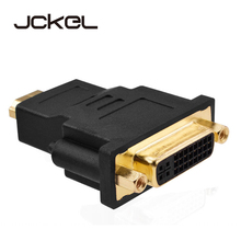 JCKEL Mini Dual Link DVI i 24+5 Male to a HDMI Male Adapter Cable DVI-i Connector Splitter Converter Jack Wire Cord for HDTV PC цена и фото