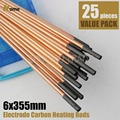 6x355mm Carbon Rods for Welding Arc Torches(R6-25)