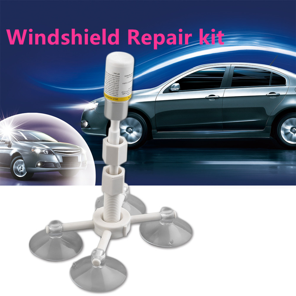 Professional DIY Auto Glass Windscreen Repair Tools Set Car Windshield Rock Chip Repair Kits