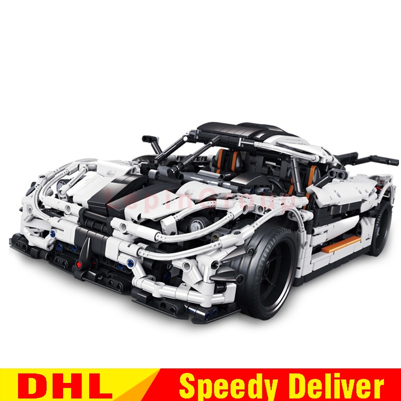 цены In Stock Lepin 23002 Technic Kits The Super Racing Car Set Children Educational Building Blocks Bricks Model legoings Toys 4789